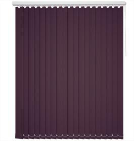 A purple vertical blind in a window