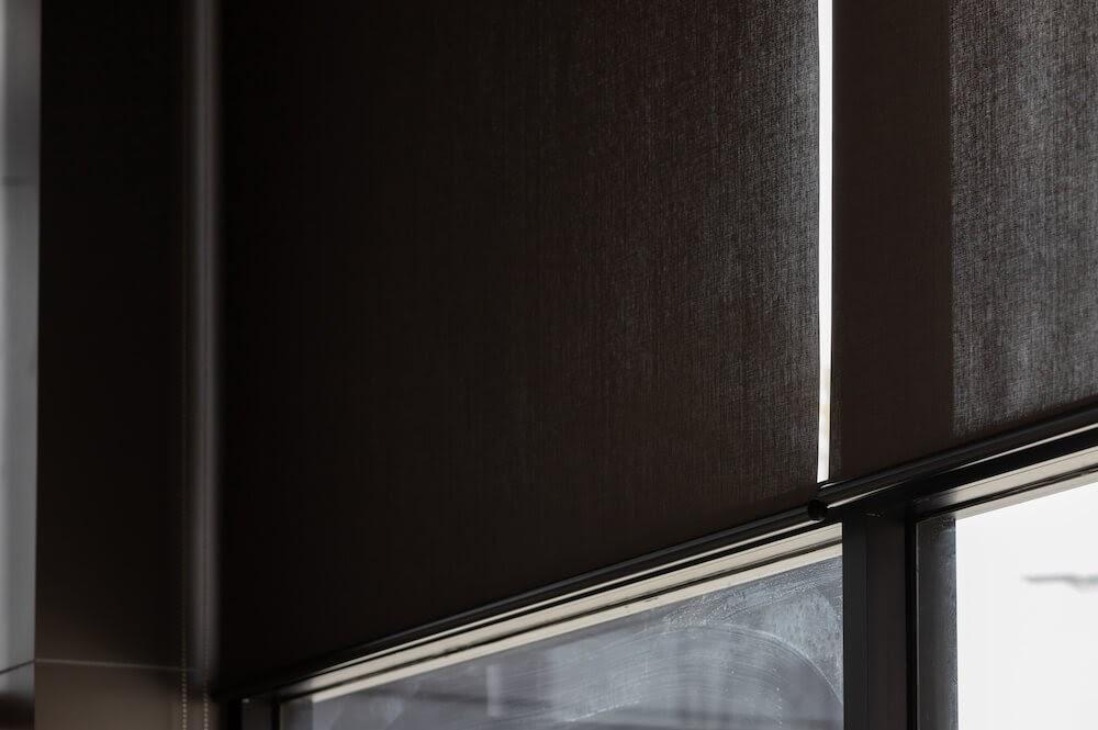 Black roller blinds